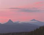 Mt. Washington, Three Fingered Jack, and Mt. Jefferson in the Cascade Range