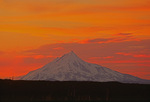 Mt. Jefferson at sunset from the McKenzie Lava Beds