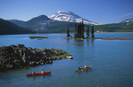 Canoes on Sparks Lake below the South Sister