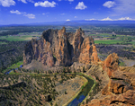 Smith Rock, Crooked River, Three Sisters, Broken Top, and Mt. Bachelor