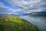 Rainbow and Columbia River from Cape Horn