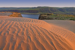 Sand dunes and Columbia River