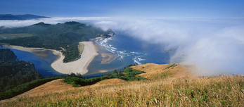 Pacific Ocean and Salmon River Estuary from Cascade Head