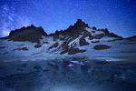 Broken Top Mountain and stars