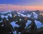 Glacier Peak Wilderness sunset