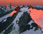 Icy Peak at sunset with Spillway Glacier
