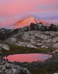 Mt. Baker and pond at sunrise