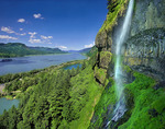 Mist Falls and Columbia River Gorge