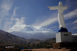 Yungay Cemetary at Campo Santo below Nevado Huascaran