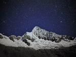 South Face of Nevado Alpamayo by moonlight