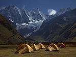 Huayhuash camp below Jirishanca