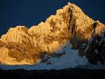 Sunrise on Nevado Quitaraju