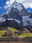 Andean homes below Nevado Yerupaja