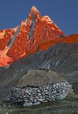 Home below Nevado Jirishanca