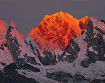 Sunset on Nevado Siula Grande