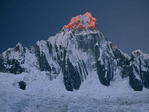 Nevado Taulliraju at sunset