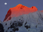 Sunset on Nevado Yerupaja