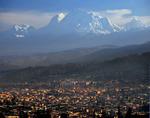 City of Huaraz and Nevado Huascaran