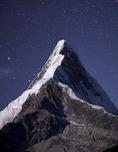 Nevado Artesonraju by moonlight