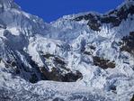 Glaciers near Punta Union in Cordillera Blanca