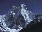 Nevado Jirishanca by moonlight