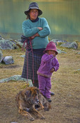 Campesino family in Cordillera Huayhuash