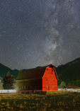 Barn in Wallowa Valley under the Milky Way