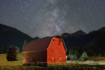 Wallowa Valley and Wallowa Mountains under the Milky Way