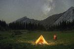 Backpacker camp in Eagle Cap Wilderness below Jackson Peak