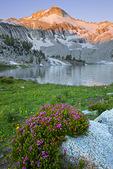 Sunrise on Glacier Peak from  Glacier Lake