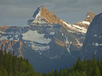Mount Christie and Mount Brussels in Jasper National Park