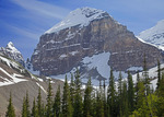 Mt Lefroy from Plain of Six Glaciers Trail