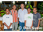 President Jose Ramos-Horta of Timor-Leste (East Timor) (center) stands with biology students (left to right) Agivedo &amp;quot;Laca&amp;quot; Ribeiro, Venancio &amp;quot;Benny&amp;quot; Lopez Carvalho, Zito Afranio, and Luis Lemos at his home in Dili on February 4, 2010.