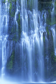 Burney Falls detail. Extensive coverage of western landscapes and scenics, including many state and national parks and refuges, in 35mm, medium and panoramic formats.