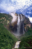 793050046 angel falls the tallest waterfall in the world cascades down ayuan tepui in the lost world or islands in the sky region of canaima national park venezuela. extensive coverage of many world-wide scenic locations.