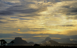 793050205 sunset over aparaman and towyen tepuis from a kavak indian village in the islands in the sky region near canaima national park venezuela. extensive coverage of many world-wide scenic locations.