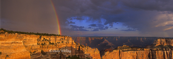935000004 Rainbow and clearing storm over Cape Royal On the North Rim; Grand Canyon National Park, Arizona. Extensive coverage of North American national -parks and other scenic locations.