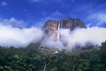 793050056 Angel Falls, the tallest waterfall in the world, and Auyan tepui  rise up from the clouds and tropical rain forest in the wild and remote Lost World area of Canaima National Park, Venezuela. Extensive coverage of many world-wide scenic locations.