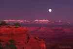 731200003 a full moon rises over the lasalle mountains with sunset light on the canyon walls of grandview point in canyonlands national park utah. Extensive coverage of numerous North American parks and other geographic locations.