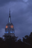 Empire State Building at Night in May.