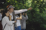 Sarah M. Elliott leads a bird walk.