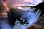 Iguazu (Iguasu, Iguacu) Falls with rainbow