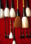 Chinese Brushes in shop on restored Song dynasty street in Tunxi (Huangshan City)