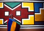 South African Ndebele woman and design