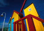 South Africa's Cape peninsula St. James Bathing Boxes