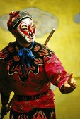 Beijing Opera's Monkey King Wukong on stage at the Liyuan Theater at the Qianmen Hotel