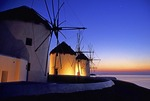 Mykonos Windmills at Dusk