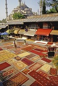 Istanbul rug shops near Blue Mosque