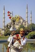 Istanbul's Blue Mosque cherry juice vendor