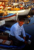 Antalya fisherman at old Roman harbor